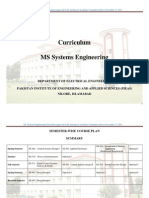 PIEAS Course outline for MS System Engineering