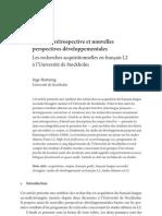 Synthese Retrospective Et Nouvelles