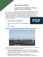 Aerogeneradores de Eje Vertical