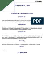 DC 17-2002 - Ley Monetaria.