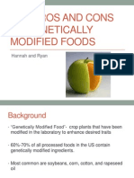 the pros and cons of genetically modified foods
