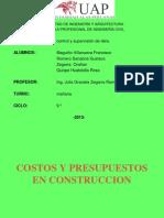 Costos-Y-Presupuestos Control y Supervision