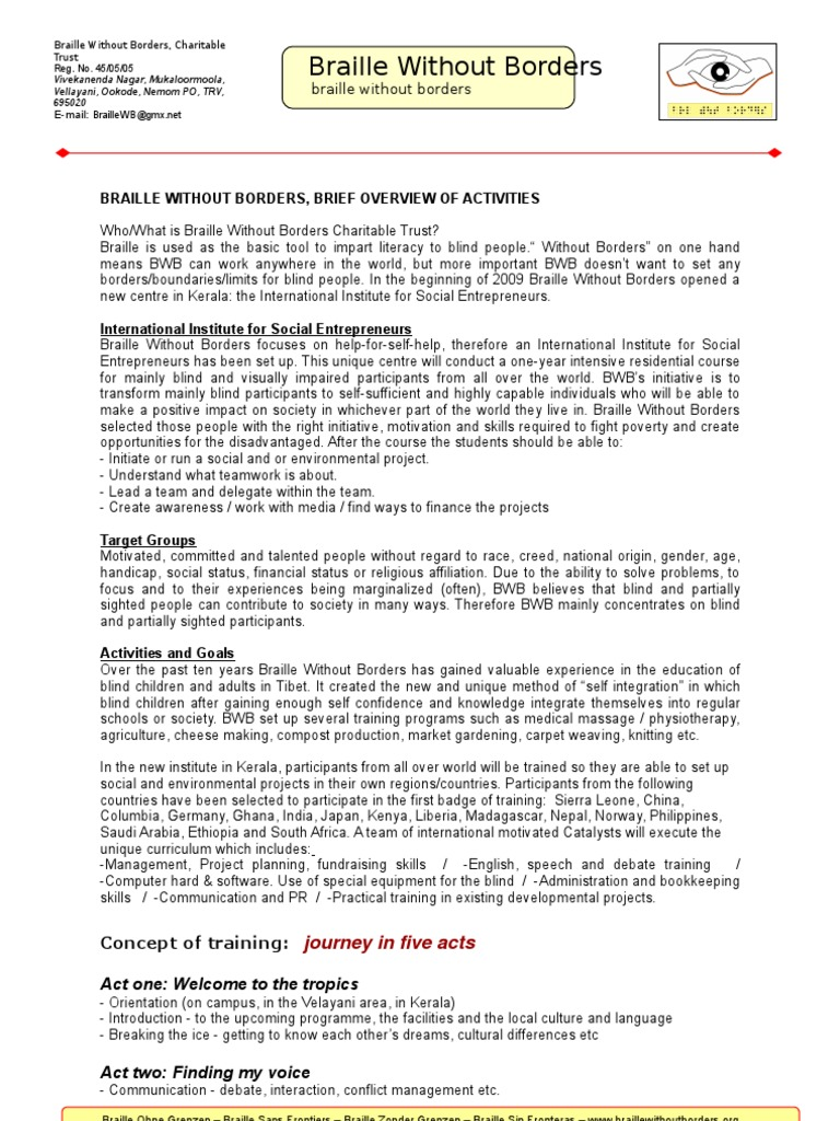 BWB-IISE Brief Overview 2009   Visual Impairment