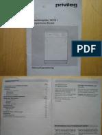 Bedienungsanleitung Geschirrspüler PRIVILEG 10310i