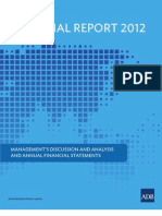 ADB Annual Report 2012 - Financial Report