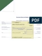 Formato de Nota de Debito