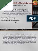 Dificultades Para Escoger Un Tema de Investigacion[1]