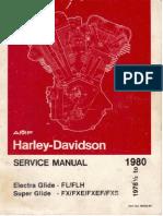 Harley - Davidson Electra Glide FL/FLH and Super Glide FX/FXE/FXEF/FXS 1978 1/2 to 1980 Service Manual