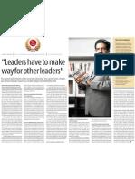 """Leaders have to make way- vineet nayar HCL"