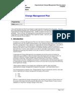 Organization Change Management Plan Template