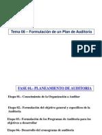 Tema 08 - Formulacion Del Plan de Auditoria