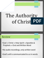 2013.02.10 Christs Authority - How God Communicates With Us