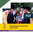 Postgraduate Coursework Guide2013