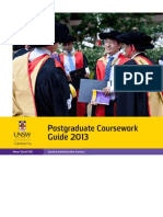 Postgraduate Coursework Guide2013