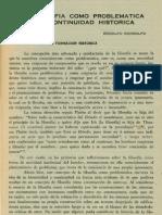 Mondolfo Rodolfo - La Filosofia Como Problematica y Su Continuidad Historica