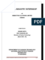 Apparel Internship Document