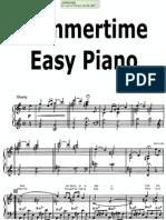 Gershwin Summertime Easy Piano