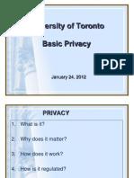 Basic Privacy