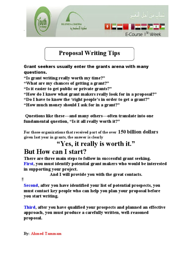 Proposal Writing Tips (Eng) | Goal | Evaluation