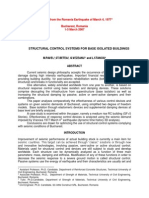 Structural Control Systems for Base Isolated Buildings