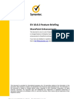 EV 10.0.3 Feature Briefing - SharePoint 2013 Support (December 2012) (1)