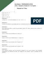 Lista 1 - Equações e Funções - Cursinho