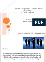 Privatization of Africa's International Relations