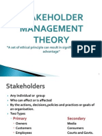 Stakeholder Management Theory