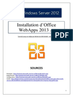 Installation d'Office WebApp 2013 (tuto de A à Z)