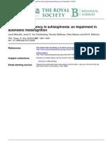 2012 Metcalfe Et Al 2012 Judgements of Agency in Schizophrenia - An Impairment in Autonoetic Metacognition