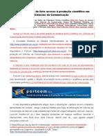 20120130 Portcom Portal Livre Acesso Producao Cientifica Ciencias Comunicacao PUBLICADA