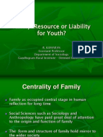 Family Youth and Future - Family Resource or Liability