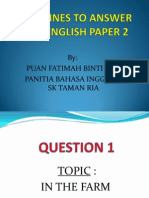 Guidelines on How to Answer Upsr English Paper