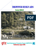 Manual of Mini-hydropower Design Aids