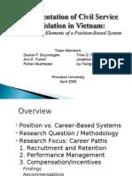 2009-04-01 Implementation of Civil Service Legislation in Vietnam