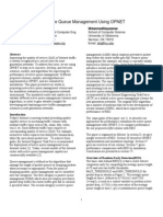 Study of Active Queue Management Using OPNET