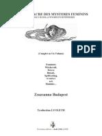 Le Livre Sacre Des Mysteres Feminins - Zsuzsanna Budapest