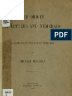 Mordell, Phineas - The Origin of Letters and Numerals According to the Sefer Yetzirah (1914)