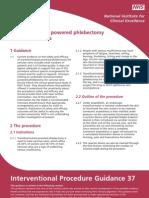 Transilluminated powered phlebectomy  for varicose veins