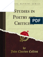 Studies in Poetry & Criticism