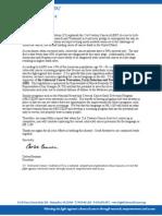 Letter to Senator Kennedy and Senator Hutchison