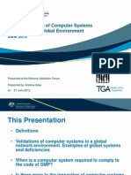 Validation of Computer Systems in a Global Environment