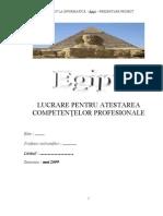 Egipt - Atestat model