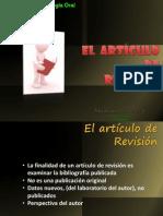 El artículo de revision