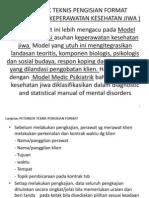 Petunjuk Pengisian Format Pengkajian Kesehatan Jiwa