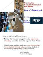 Curriculum Reform in Chhattishgarh Looking From the Below 2013
