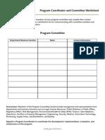 FEMA Program Coordinator Committee Worksheet