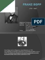 Franz Bopp Biografía fin
