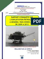 Rapport sur l'exploitation pétrolière à Moanda Bas Congo