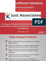 The Impact of Duplicate Medical Records and Overlays in Healthcare